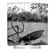 Tractor In Long Grass Shower Curtain