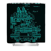 Tractor Patent Drawing 7f Shower Curtain