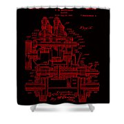 Tractor Patent Drawing 7j Shower Curtain
