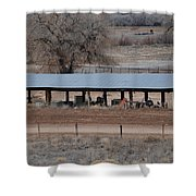 Tractor Port On The Ranch Shower Curtain