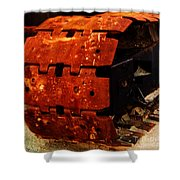 Tractor Track Shower Curtain