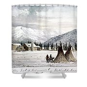 Trading Outpost, C1860 Shower Curtain