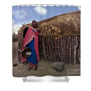 Tradional Home Builder Shower Curtain