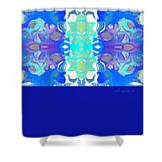Tradition Blue Shower Curtain