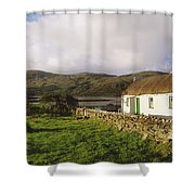 Traditional Cottage, Near Lough Rus Shower Curtain