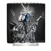 traditional dancer Blue Shower Curtain