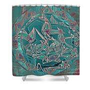Traditional Dish Shower Curtain