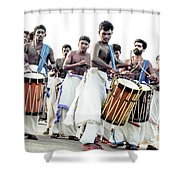 Traditional Drummers Shower Curtain