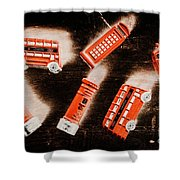 Traditional English Travel Shower Curtain