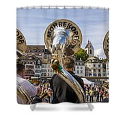 Traditional Guggenmusik Shower Curtain