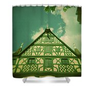 Traditional House Roth Germany Cross Process Holga Photography Shower Curtain