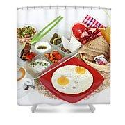 Traditional Israeli Breakfast Shower Curtain