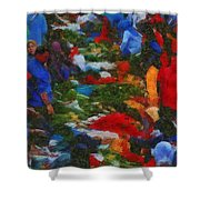 Traditional Market Shower Curtain