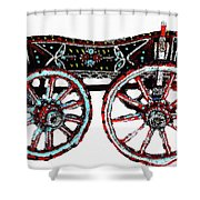 Traditional Painted Donkey Cart  Shower Curtain