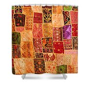 Traditional Patchwork Tapestry Shower Curtain