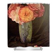 Traditional Rose Still Life Shower Curtain