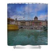 Trafalgar Square Fountain London 12 Shower Curtain