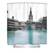 Trafalgar Square Fountain London 3 Shower Curtain
