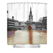 Trafalgar Square Fountain London 3b Shower Curtain