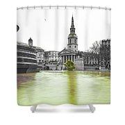 Trafalgar Square Fountain London 3c Shower Curtain