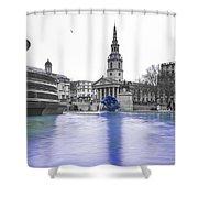 Trafalgar Square Fountain London 3d Shower Curtain