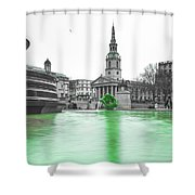 Trafalgar Square Fountain London 3f Shower Curtain
