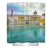 Trafalgar Square Fountain London 4 Shower Curtain