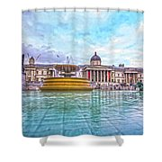 Trafalgar Square Fountain London 8 Shower Curtain