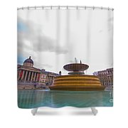 Trafalgar Square Fountain London 9 Shower Curtain