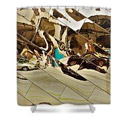 Traffic Along Euclid, Cleveland Shower Curtain
