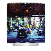 Traffic In The City Shower Curtain