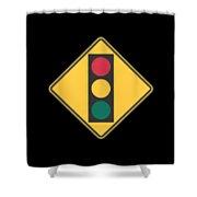 Traffic Light T-shirt Shower Curtain