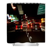 Traffic Shower Curtain