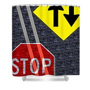 Traffic Signs Shower Curtain