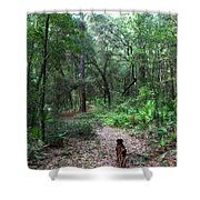 Trail Angel Shower Curtain