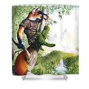 Trail Blazing Fox Shower Curtain
