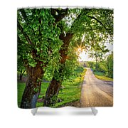 Trail Into Sunset Shower Curtain