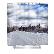 Trail One In Old Forge 2 Shower Curtain