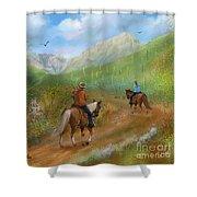Trail Ride In Sabino Canyon Shower Curtain