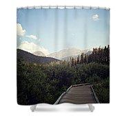 Trail Ridge Road Shower Curtain