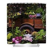 Trailer Full Of Flowers Shower Curtain