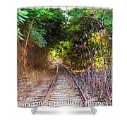 Trails Of Tracks Shower Curtain