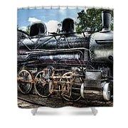 Train - Engine - 385 - Baldwin 2-8-0 Consolidation Locomotive Shower Curtain