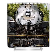 Train - Engine - 4039 American Locomotive Company  Shower Curtain by Mike Savad