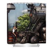 Train - Engine - Alllll Aboard Shower Curtain