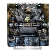Train - Engine -1218 - Norfolk Western Class A - 1218 - Front View Shower Curtain