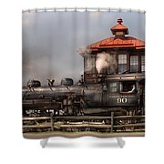 Train - Engine -the Great Western 90 Shower Curtain by Mike Savad