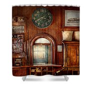 Train - Office - The Ticket Takers Window Shower Curtain