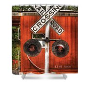 Train - Yard - Railroad Crossing Shower Curtain