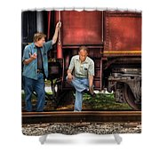 Train - Yard - Shoot'in The Breeze Shower Curtain